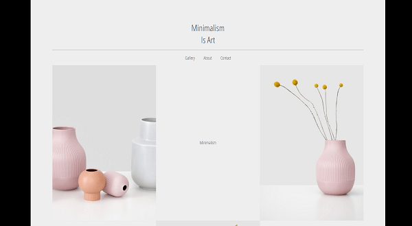 A screenshot of the Minimalism is Art website