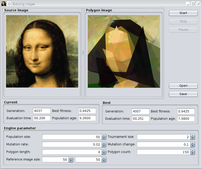 Evolving Mona Lisa