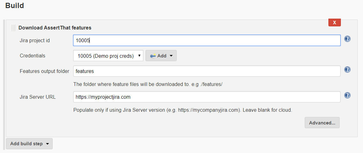 Download feature files