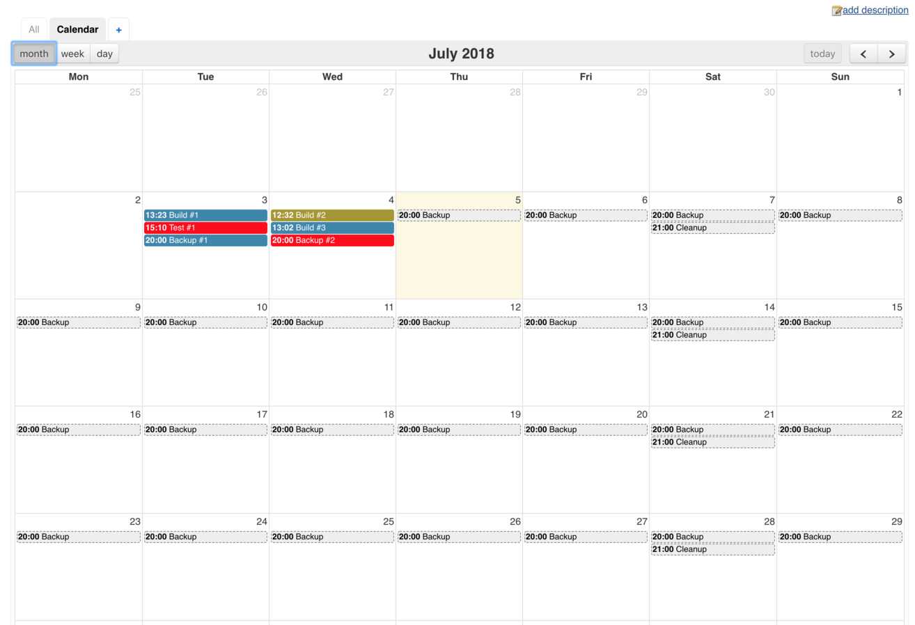 calendar view plugin jenkins jenkins wiki
