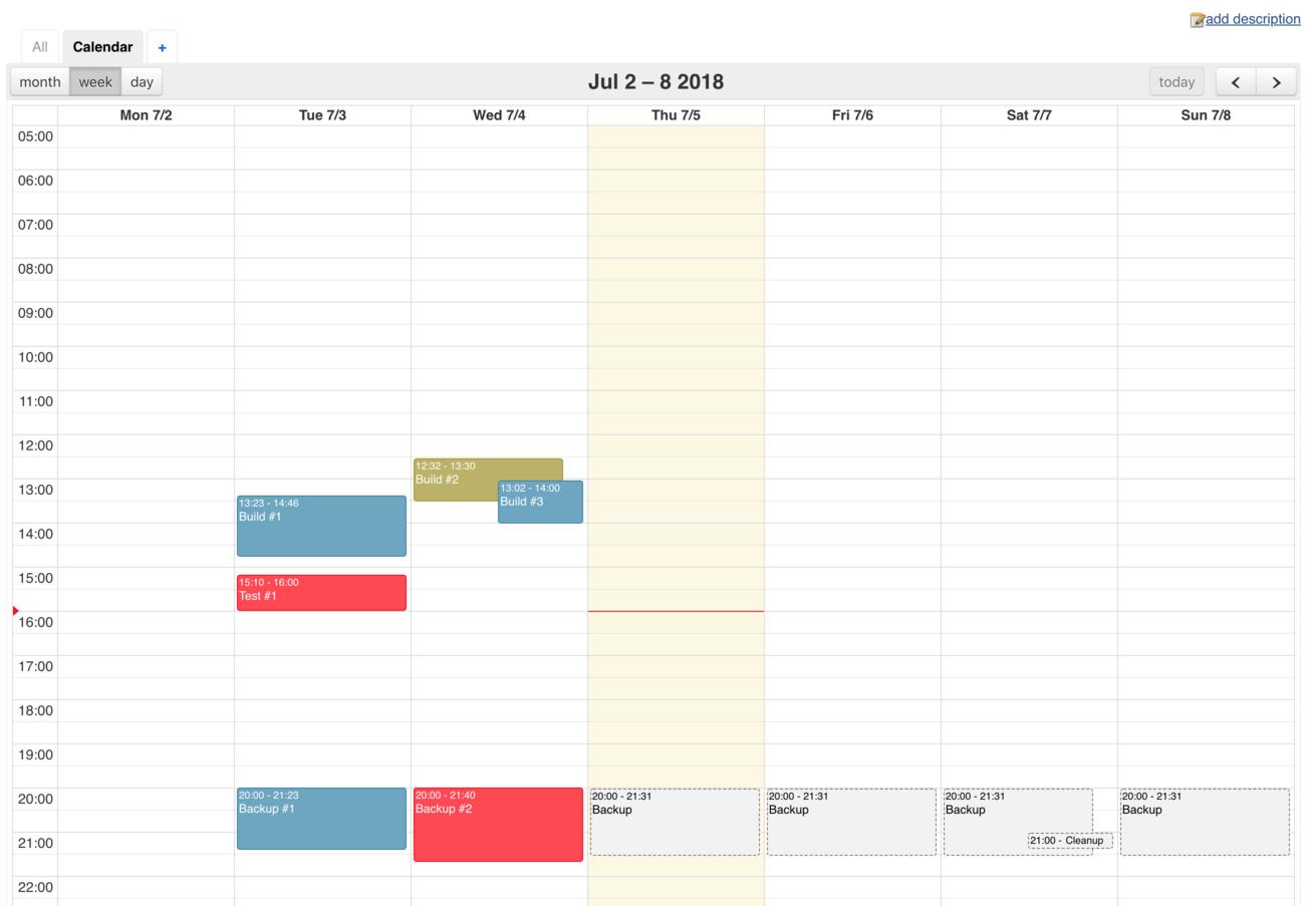Calendar View Plugin - Jenkins - Jenkins Wiki