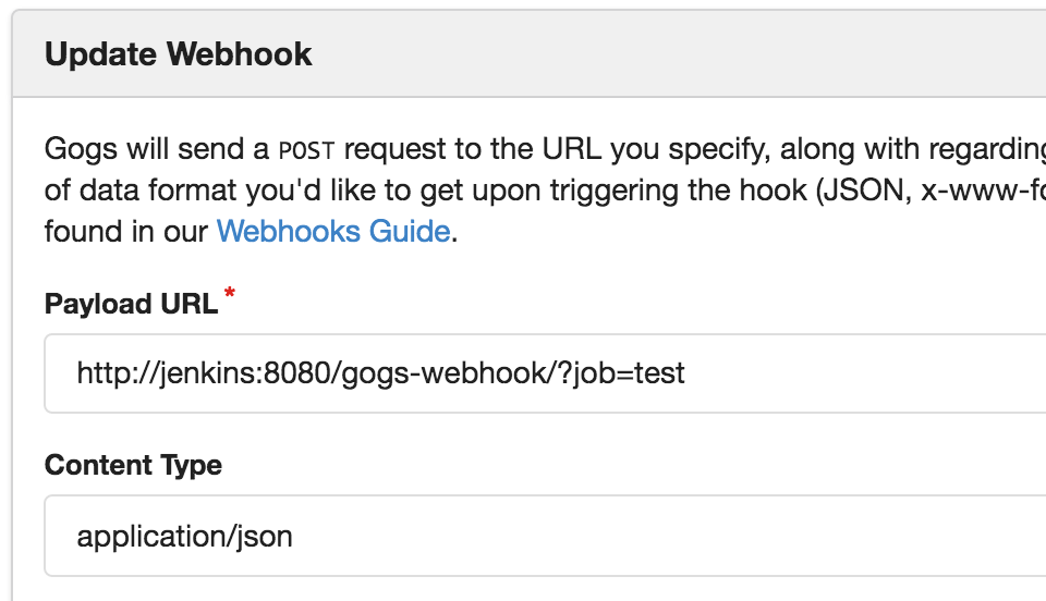 Example webhook