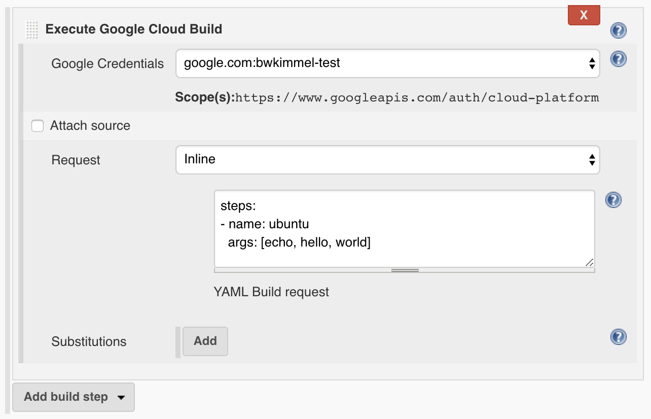 Google Cloud Build Plugin - Jenkins - Jenkins Wiki