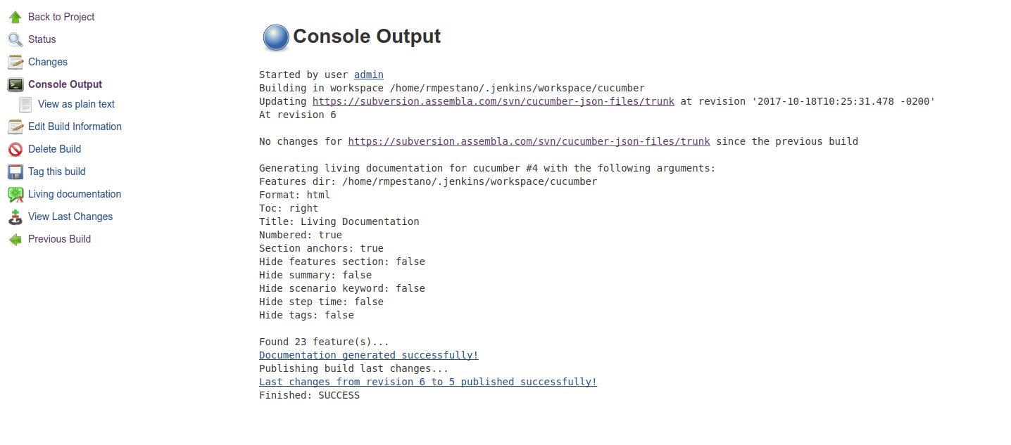 last changes plugin jenkins jenkins wiki job output should look like