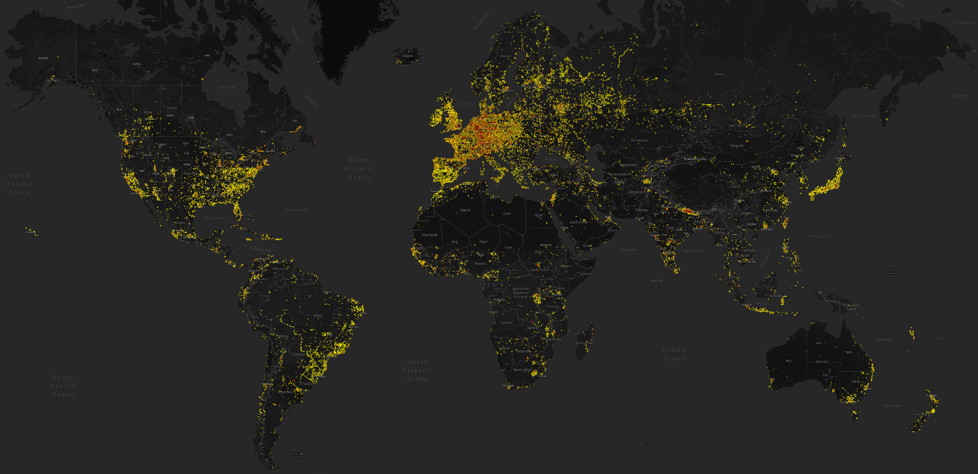 Map of 2015 users