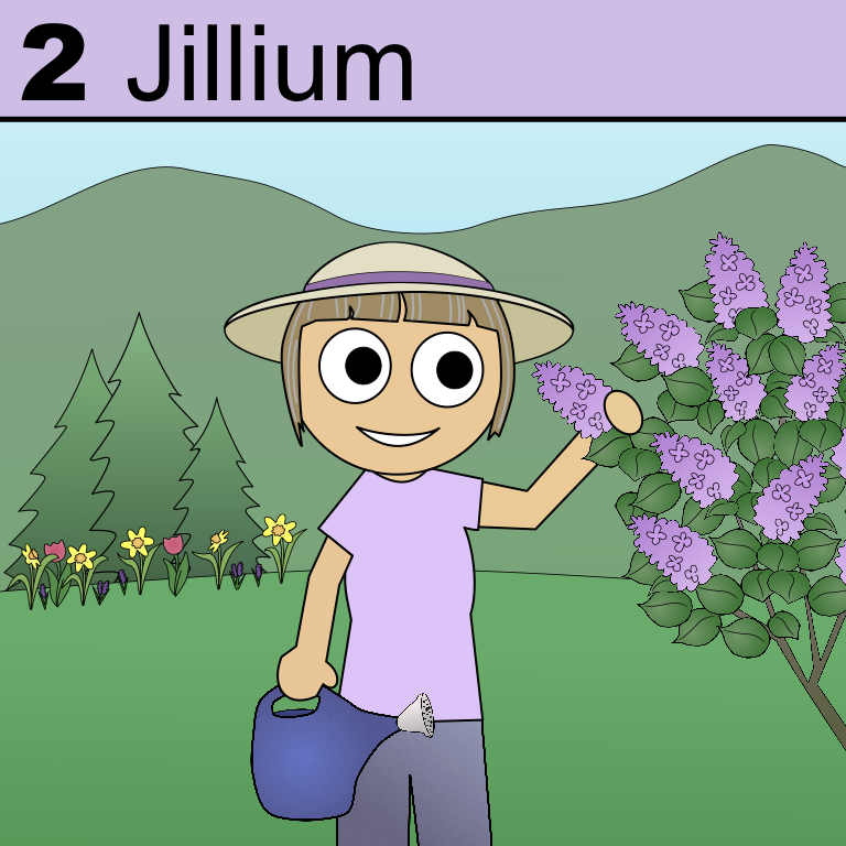 Element 2 on the Periodic Tabel of Patrons: Jillium.