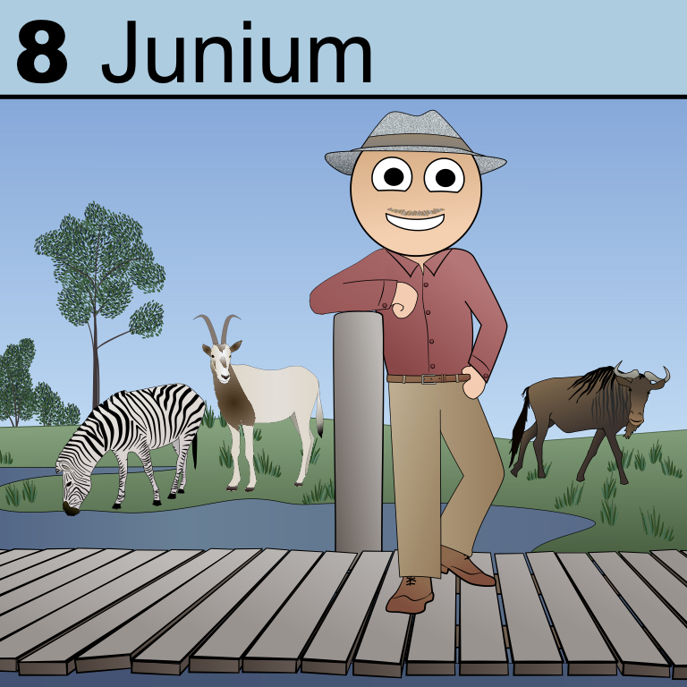 Element 8 from the Periodic Tabel of Patrons: Junium.