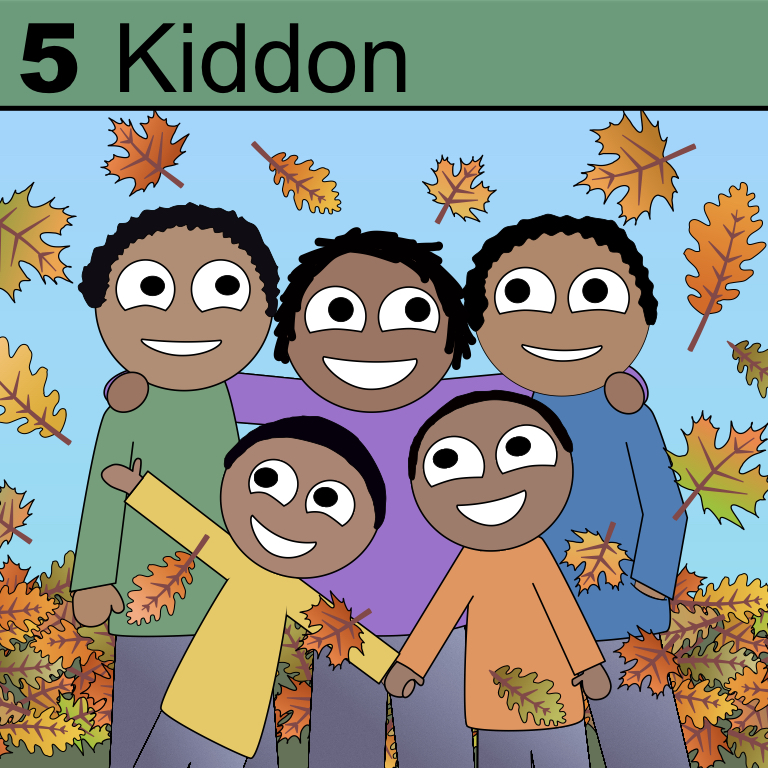 Element 5 from the Periodic Tabel of Patrons is Kiddon.