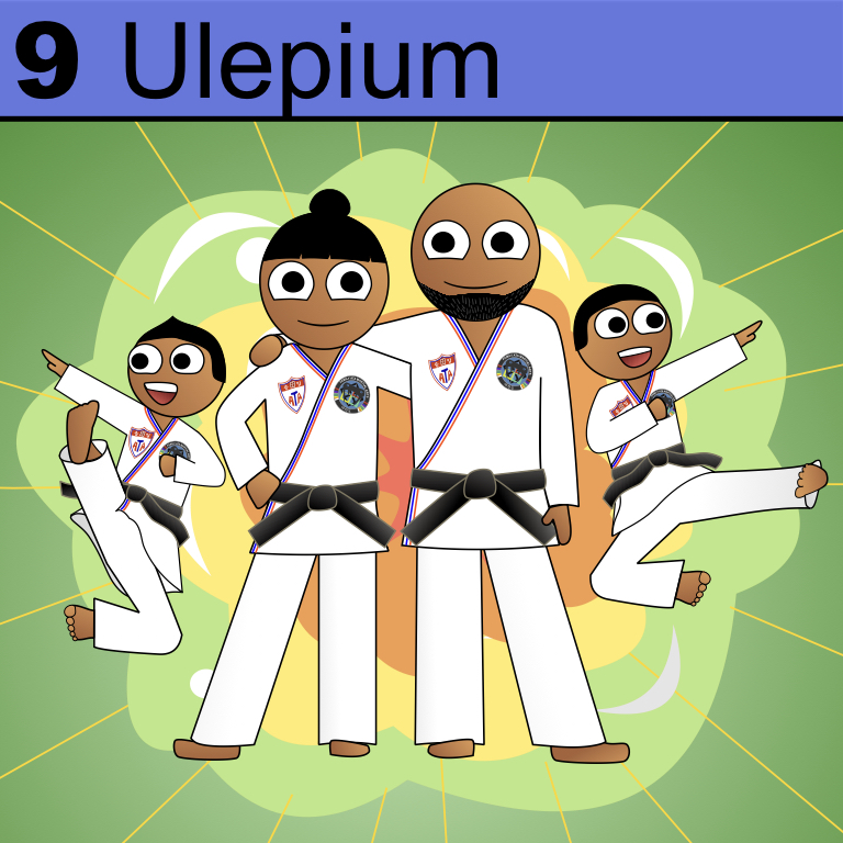Element 9 from the Periodic Tabel of Patrons: Ulepium.