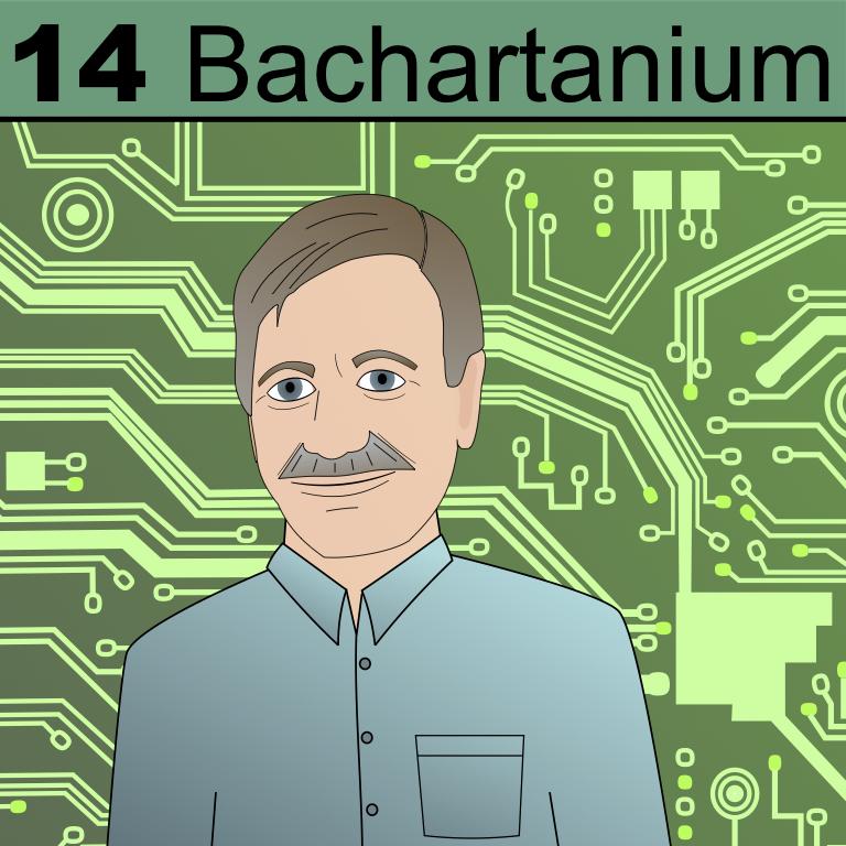 Element 14 from the Periodic Table of Patrons: Bachartanium.