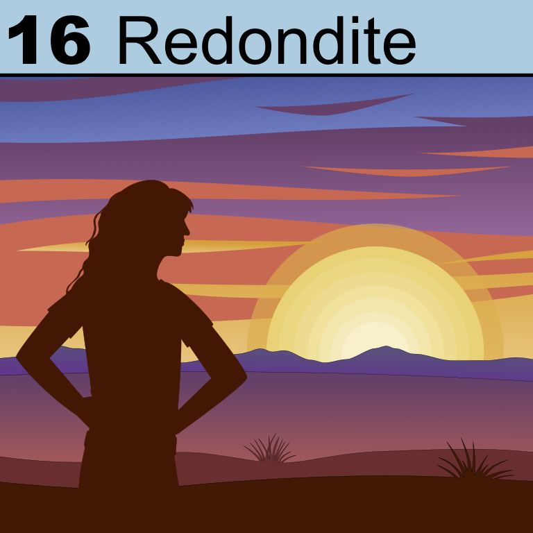 Element 16 from the Periodic Tabel of Patrons: Redondite.