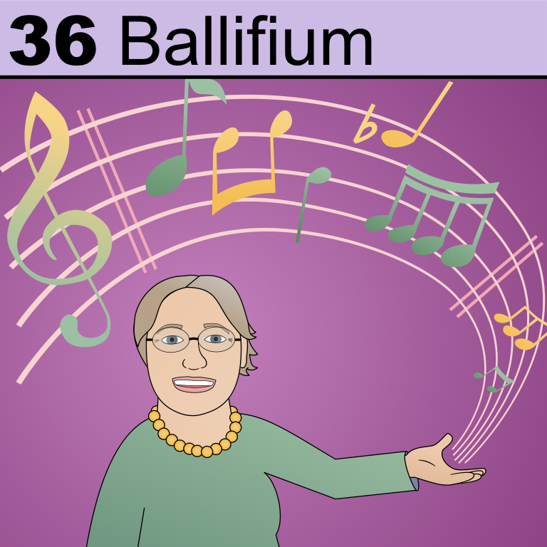 Element  from the Periodic Tabel of Patrons: Ballifium.