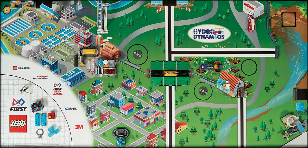 Hydro Dynamics game field