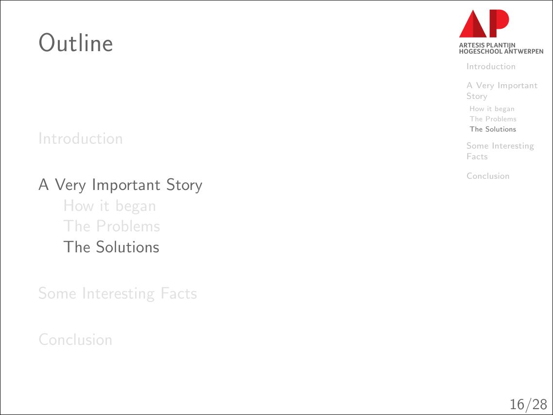 An oultline slide