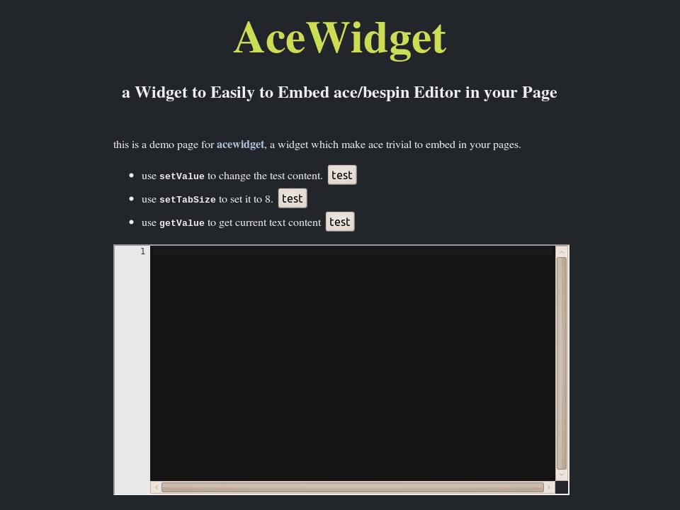 AceWidget Demo