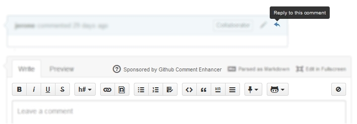 Github Comment Enhancer Screenshot