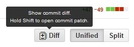 Github Commit Diff screenshot