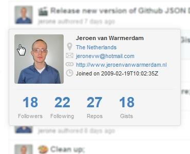 Github User Info Screenshot