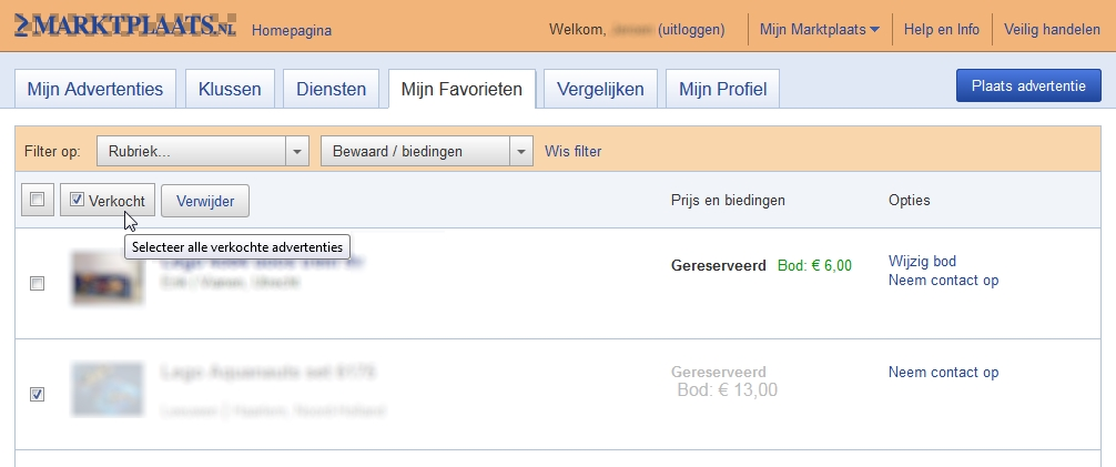 Marktplaats Exchanger Screenshot