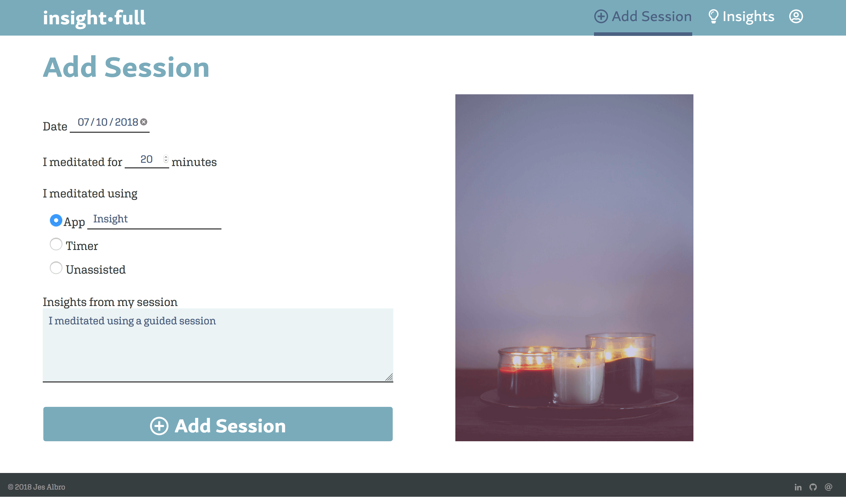 Add Session Page