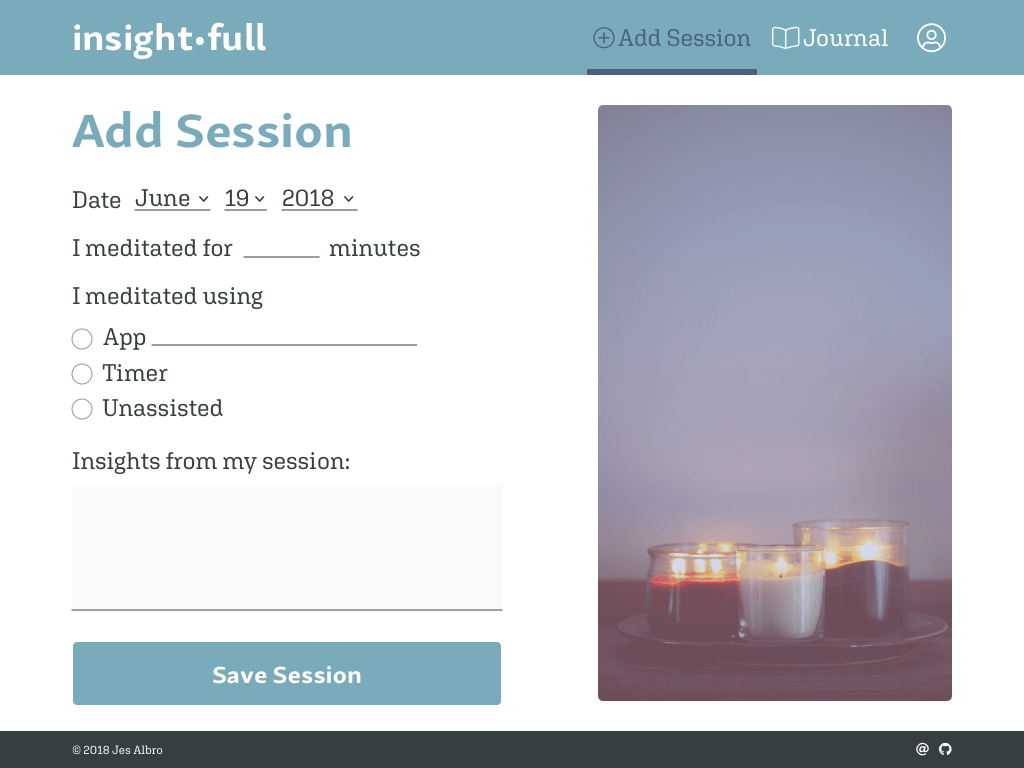 Add Session Page Design