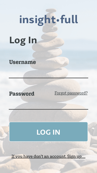 Log in Page Mobile Design