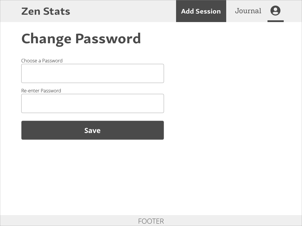 Change Password Page Design