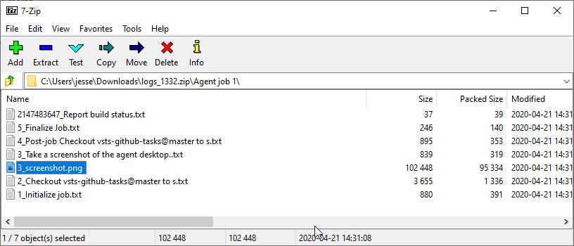 screenshot in zip