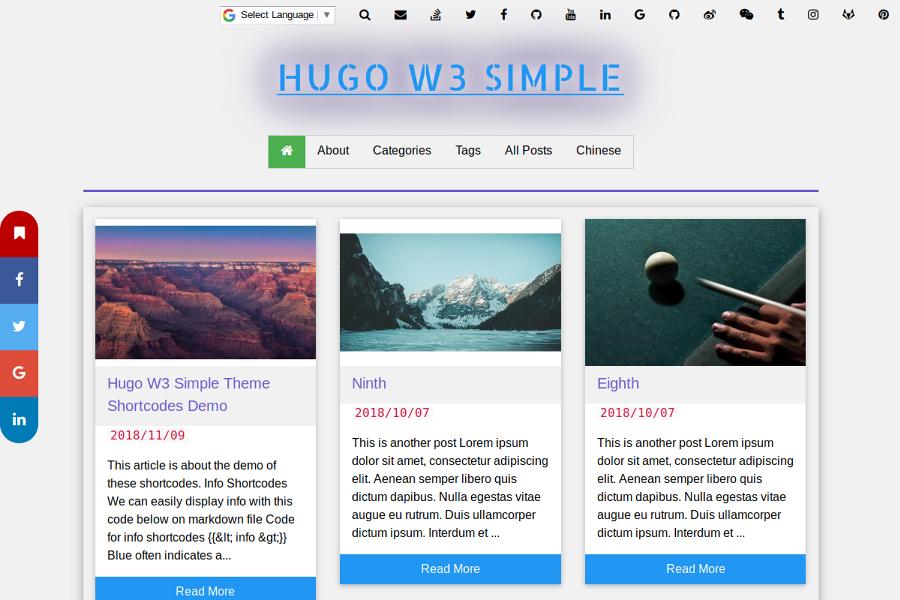 HUGO W3 SIMPLE