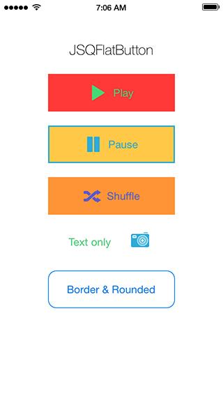 JSQFlatButton Screenshot
