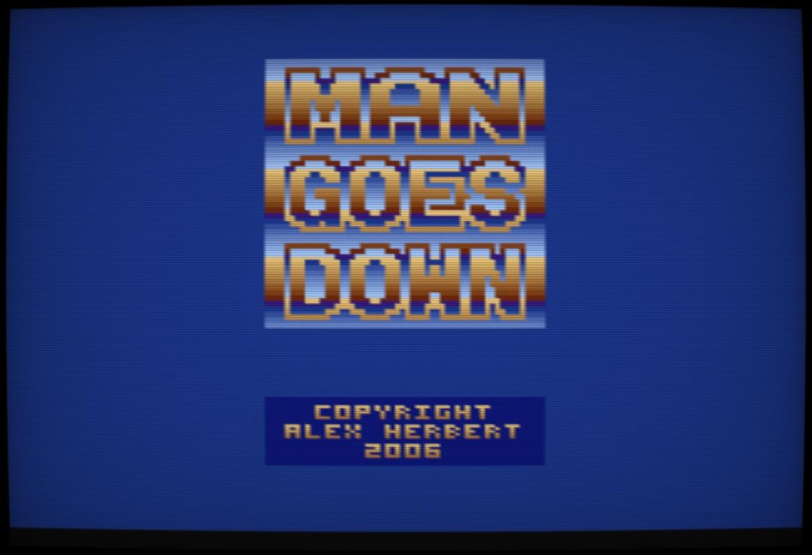 man goes down