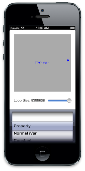 Screenshot of Property Performance project