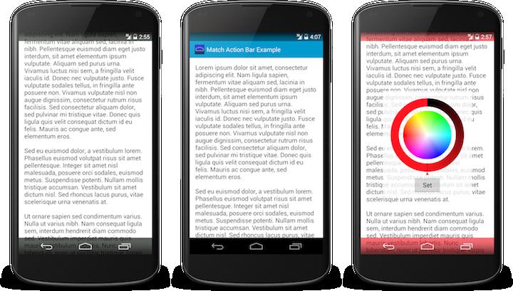 how to change notification menu colour