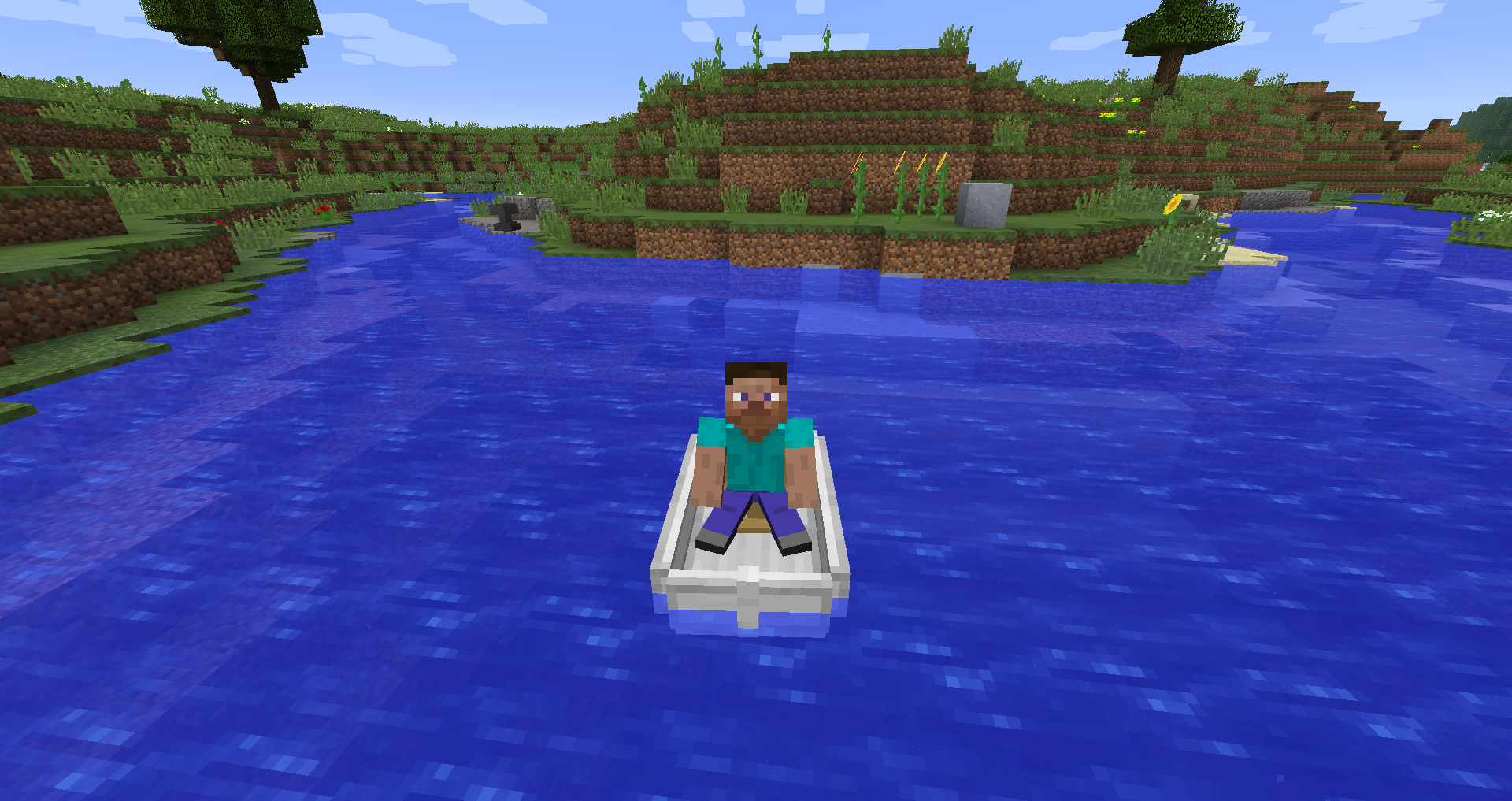 how to build a fishing boat in minecraft
