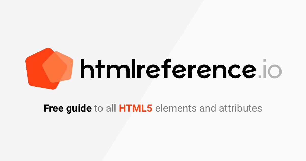 HTML Reference screenshot