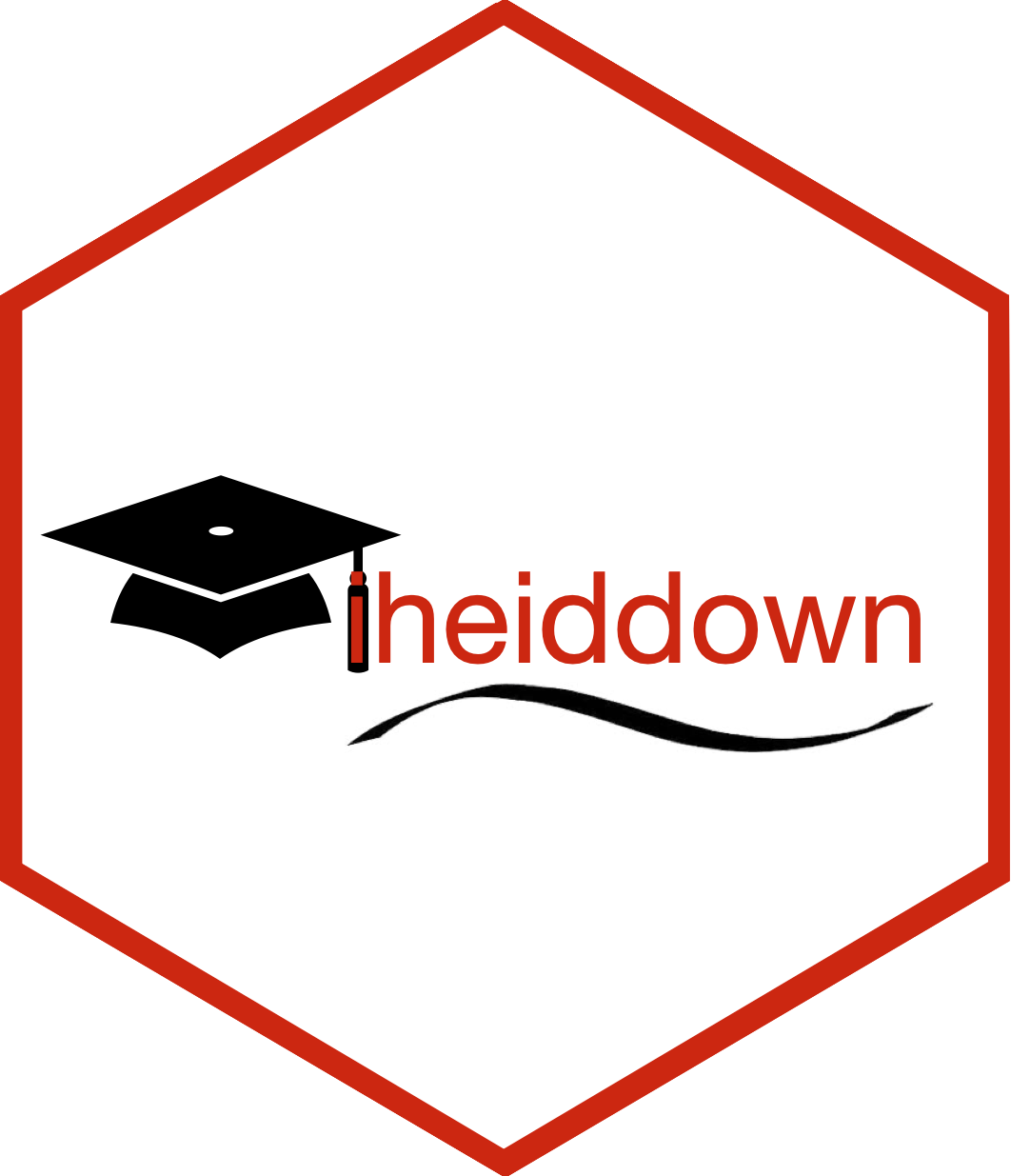 iheiddown hex sticker