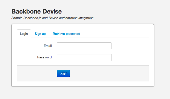 Backbone.js UI implementation for Devise, Ruby on Rails authentication