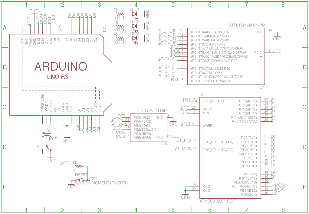 Jiahuang avr isp shield arduino by
