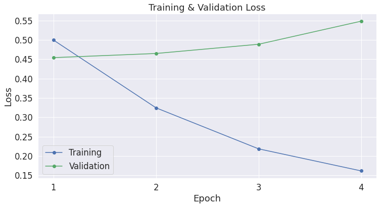 Learning Curve - Training & Validation Loss