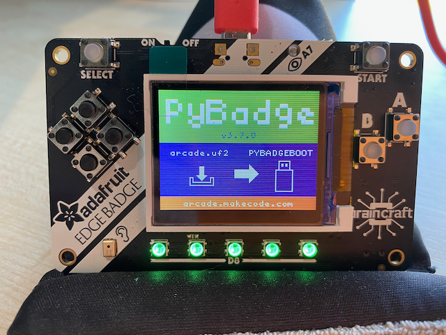 EdgeBadge in bootloader mode