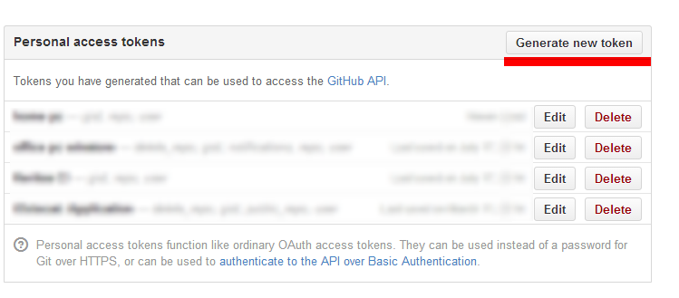 github application settings