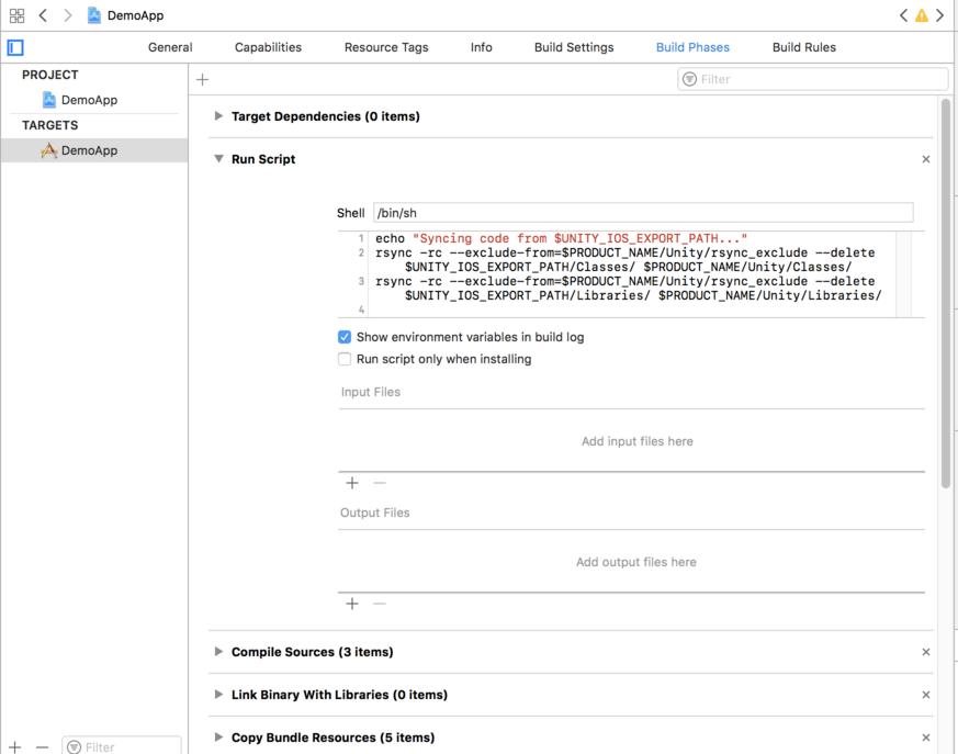 Xcode build script 1