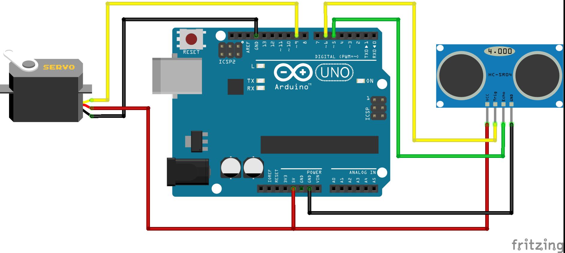 Pong Arduino setup