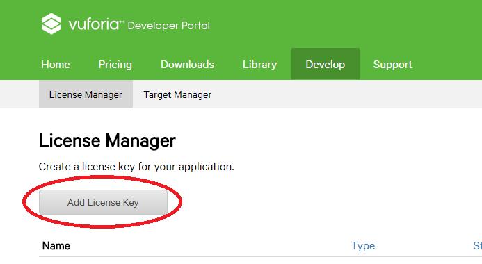 Vuforia License Key