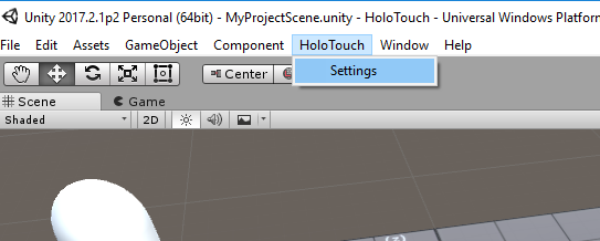 Holotouch Settings
