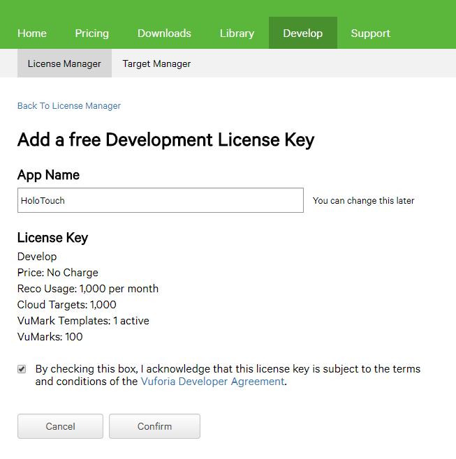Vuforia License Key 2