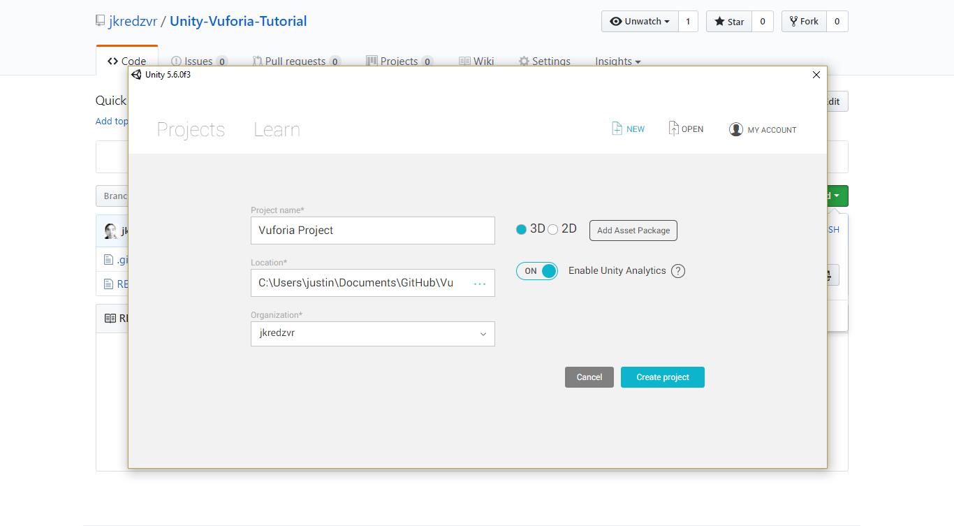 Saving Project Screenshot