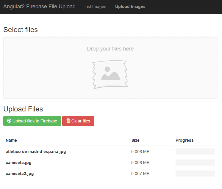 Upload files to Firebase Storage