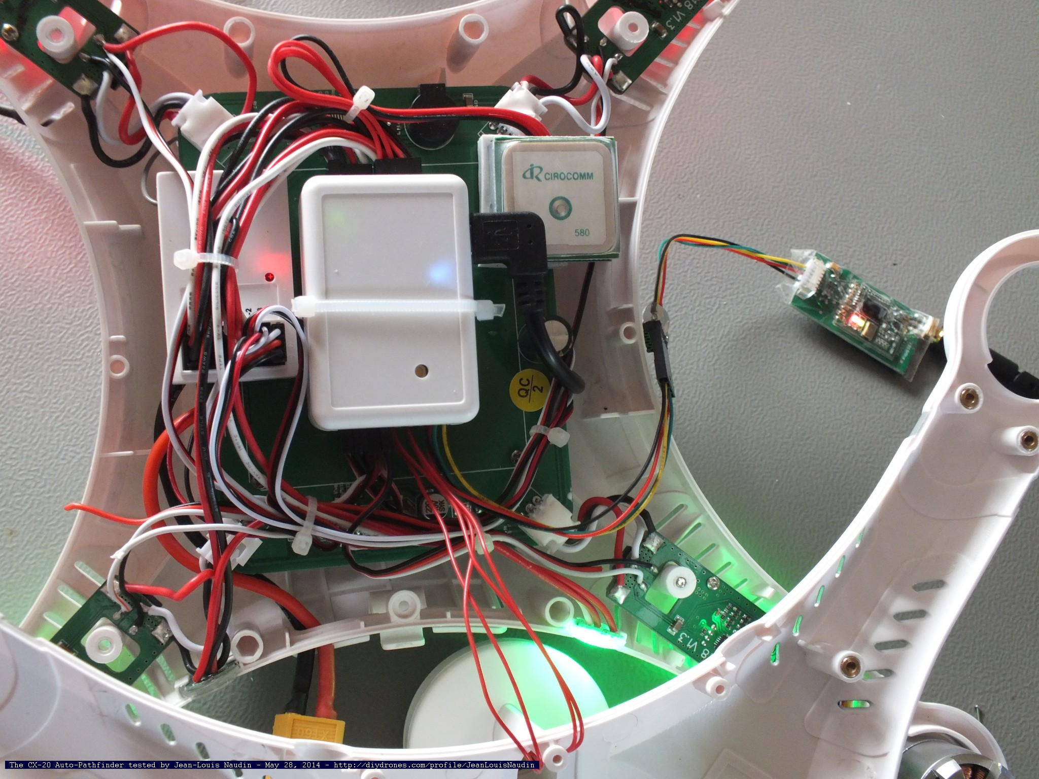 CX20jln03 tuto connecting the telemetry to the cheerson cx 20 (aka the cheerson cx20 wiring diagram at bayanpartner.co