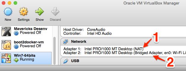 Rede Boot2Docker